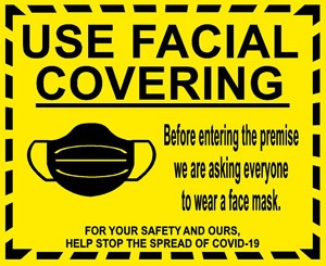 Use Facial Covering Sign