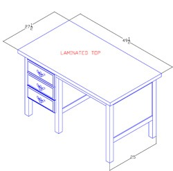Left-Hand Desk