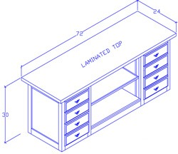 Credenza With File Drawers/Center Shelf