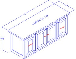 Credenza With Doors/Center Shelf