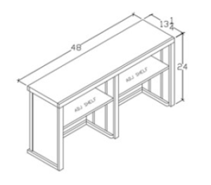 Hutch Without Opening 24 X 48