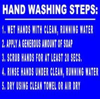 Hand Washing Steps Hand Washing Sign