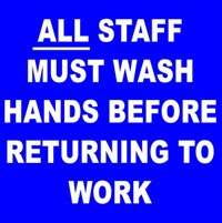 All Staff Must Wash Hands Hand Washing Sign
