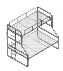 Offset Bunk Bed