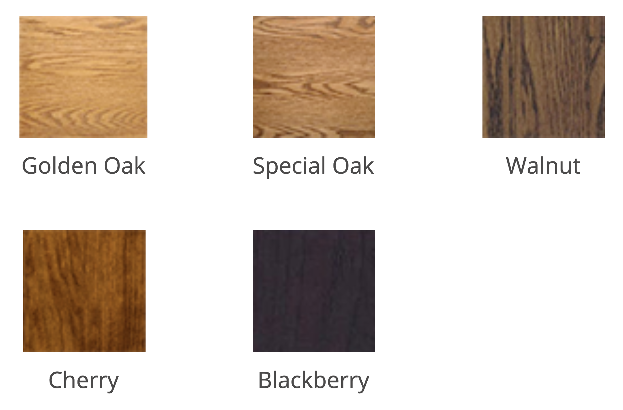 Wood Stain Swatches