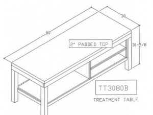 Treatment Table Without Doors