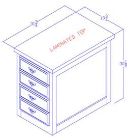 Letter Size File Cabinet - 2 Drawer