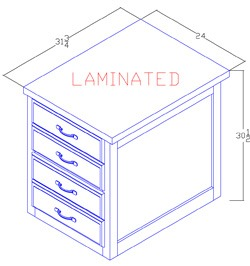 Legal Size File Cabinet - 2 Drawer