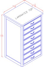 Legal Size File Cabinet - Lateral - Tall 4 Drawer