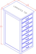 Legal Size File Cabinet - Tall 4 Drawer