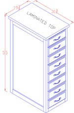 Letter Size File Cabinet - Tall 4 Drawer