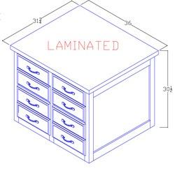 Letter Size File Cabinet - 4 Drawer