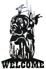 Welcome Dog Metal Cut Out