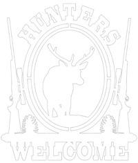 Welcome Hunters Indoor Metal Sign