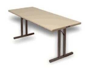Rectangle Folding Table W/Two Legs